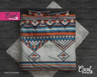 Knitted Duvet Cover set, Bohemian Bedding set, Hand-drawn Blanket, Boho Comforter Set, single twin full bedding, Bedroom Decor 18