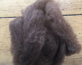 Cormo/Merino & Alpaca roving chocolate colored
