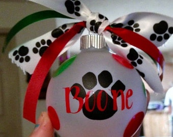 Paw print Dog ornament