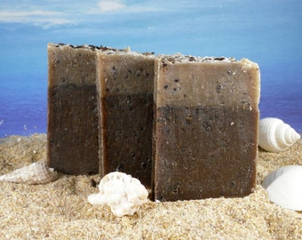 Coffee Soap Mini / Coffee Lovers Gift, Exfoliating Soap, Pumice, Sample Guest Soap great for Party Favors, Chocolate Soap, Zero Waste Soap