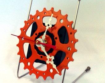 Straight Arm Deck Clock in Orange