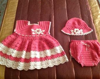 Dress in crochet 100 % cotton