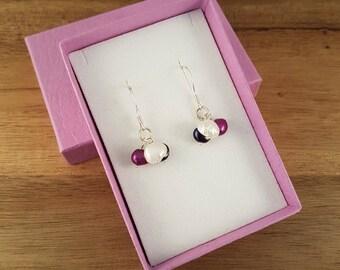 Pearl cluster sterling silver earrings