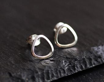 Sterling silver stud earrings - minimal, simple every day earrings