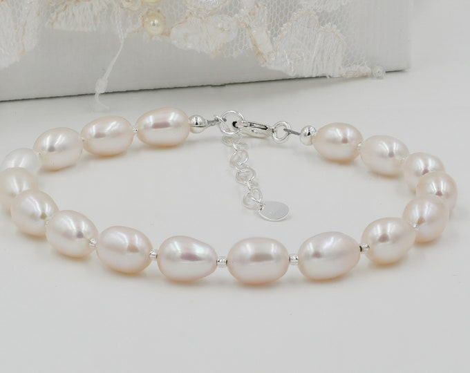 Freshwater Pearl Bracelet, bridesmaid gift, birthstone, Custom colour,  gold, jewellery, bride, mother of bride gifts, bridesmaid gifts