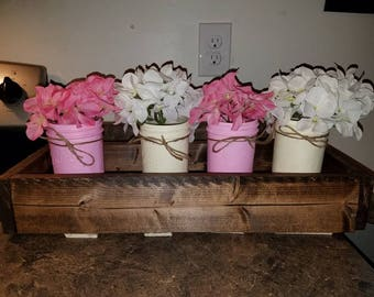 Pink and cream Ball jars