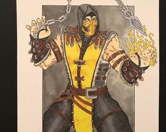 Mortal Kombat Scorpion regular print