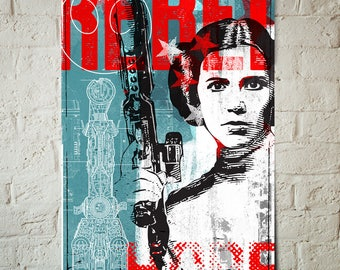 Princess Leia - Star Wars - Princess Leia Poster, Star Wars print, Rebel, Fan Art, Pop Art, Illustration, Art Print, Star Wars Gift