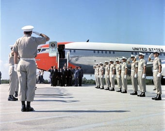 John F. Kennedy Arrives at Cape Canaveral for Presentation in 1961 # 2