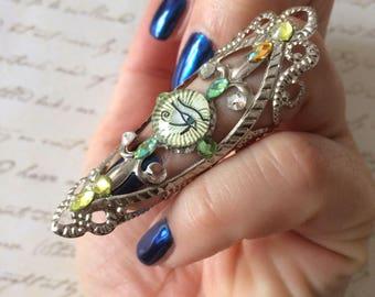 Horus eye nail ring, big nail ring , claw, Egyptian nail ring, cosplay , festival