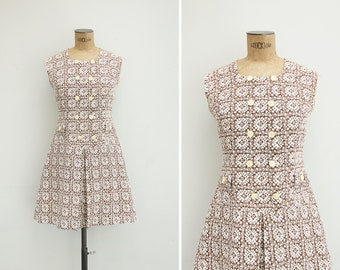 1960s Dress - Vintage 60s Mini Dress - Streets Of Granada Dress