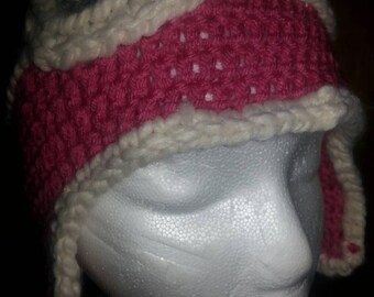 Aviator Hat - Crocheted