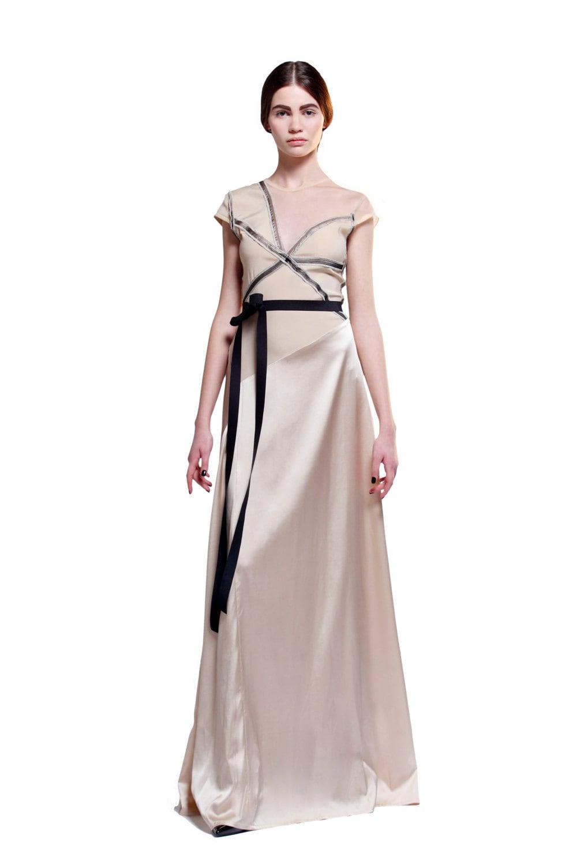 Bdsm dress long formal dress silk dress wedding dress description beige bridesmaid dress ombrellifo Image collections