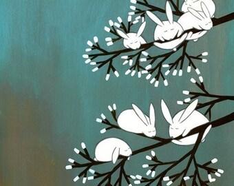 Marshmallow Garden - Signed Art Print