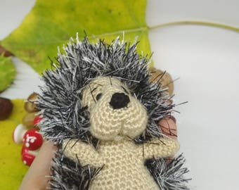 Toy hedgehog, baby hedgehog, knitted toy, soft toy, toy crochet