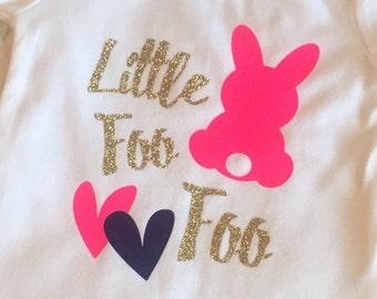 Little bunny foo foo Easter baby girl bodysuit toddler tshirt