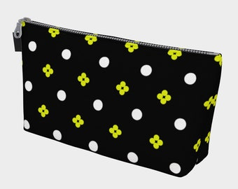 Graphic Black and Yellow | Craft Storage | Supply Bag | Travel Case | Supply Case | Tool Case | Accessories | Art Brush Bag