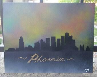 Skyline - Any City - Galaxy Sky - Original Spray Paint