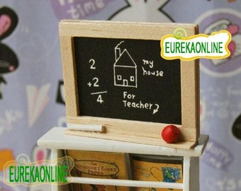 Miniature Blackboard with chalk and eraser