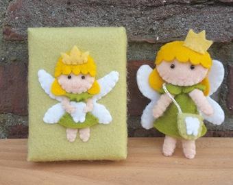 Tooth fairy in a box  - DIY felt kit - Owlscitycreations