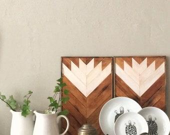 Wood Wall Art, Reclaimed Wood Wall Art, Geometric Wood Art, Mosaic Wood Art