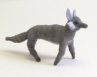READY TO SHIP Spun Cotton Vintage Inspired Wolf Ornament/Figure