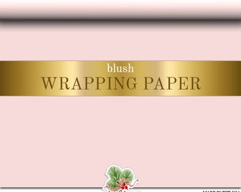 Blush Pink Wrapping Paper  | Custom Gift Wrap In Matte Blush Comes In Two Sizes Great For Any Occasion. Made In The USA
