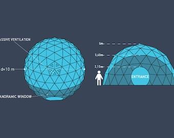 Geodome 10m, event dome
