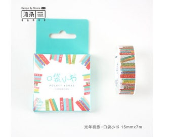 Diary Scrapbook Adhesive Masking Deco Washi Tape - Little Book  (7M x 1.5 cm)