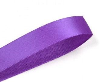 Purple ribbon double sided satin ribbon 100 yards