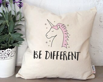 Lesbian girlfriend gift be unicorn pillow LGBT pride unicorn gift for lesbian anniversary gift same sex gift be different Mrs and Mrs gifts