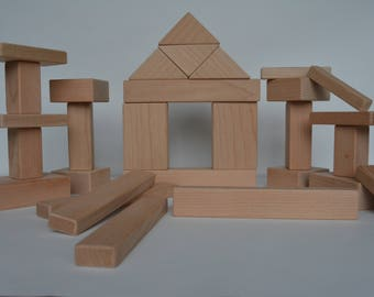 Large Maple wooden kids building blocks. All natural, sanded with smooth edges. By Bruce Hay