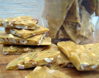 Peanut Brittle, 1 Pound, Old-Fashioned Nut Brittle, Candy