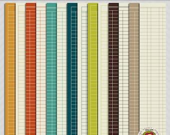 Lots of Ledgers Digital Paper Scrapbooking Set
