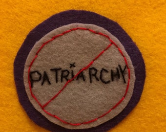 Stamp out patriarchy! - Feminist felt pins