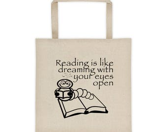 Reading Is Like Dreaming...Tote bag