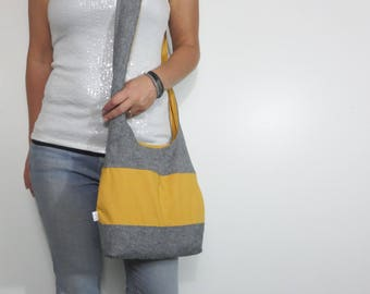 Color block hobo bag. Design your own large purse or small handbag, crossbody bag or shoulder purse.
