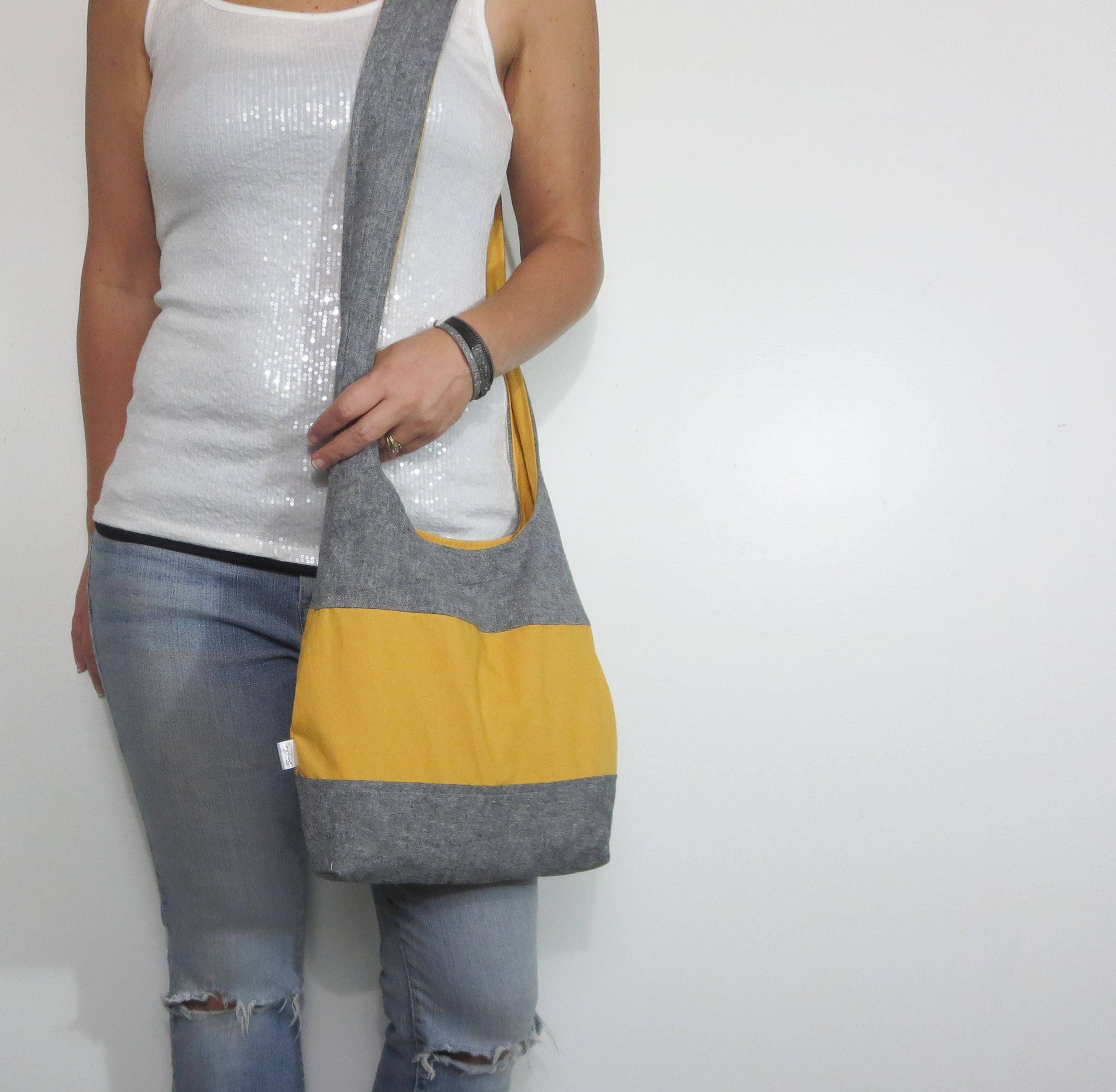 d813cb1dbc17 Color block hobo bag. Design your own large purse or small