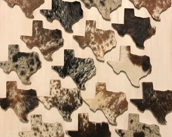 Texas Cowhide Coasters