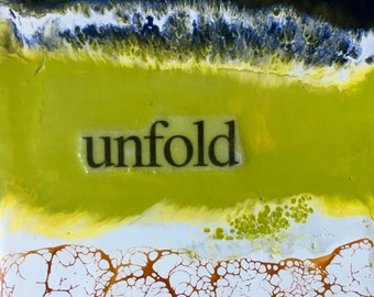 original encaustic painting-unfold