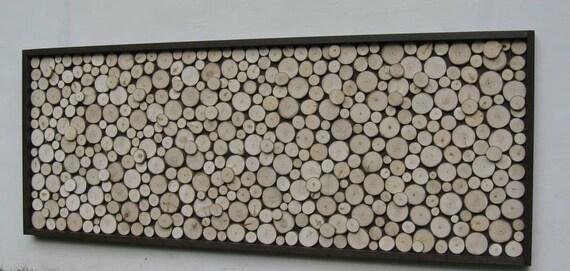 Rustic Wood Slice SculptureWall Art Abstract Tree Branch
