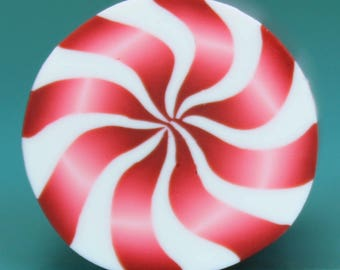 Polymer Clay Peppermint Candy Cane (47ee)