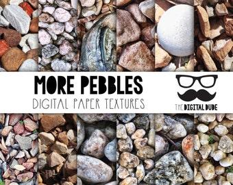 Premium Digital Paper Set, Pebbles, Scrapbook Paper, Pebbles Detail Digital Paper, Textured Pebbles, HD images, Instant Download