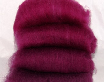 Falkland Crimson Ombre Spinning Batts - 4 ounces