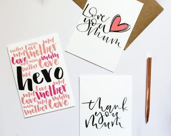 Mother's Day Card | Modern Calligraphy Card