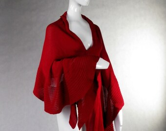 Merino Wrap Woolen Shawl Knitted Cape Mother's Day Xmas Birthday gift for her Schal Chale en laine