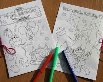 Sesame Street Birthday Party coloring, activity book, PDF file