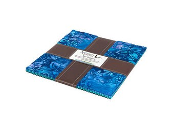 "Pre-Order Lunn Studios Gazebo Batiks Precut 10"" Layer Cake Fabric Quilting Cotton Squares Robert Kaufman TEN-616-42"