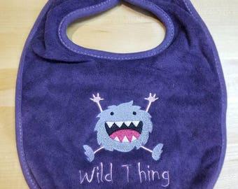 Wild Thing infant bib.