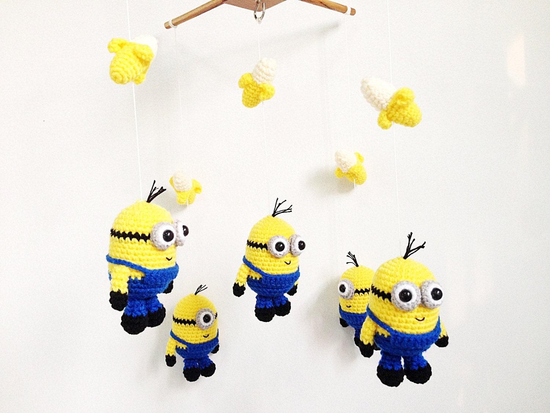 Amigurumi Sheep Baby Mobile : Baby mobile crochet happy minions minions baby mobilecrib